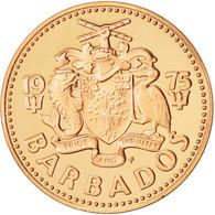 Barbados, Cent, 1975, Franklin Mint, FDC, Bronze, KM:10 - Barbades