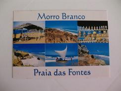 Postcard Postal Brasil Fortaleza Ceara Vistas Das Praias Do Morro Branco E Praia Das Fontes - Fortaleza