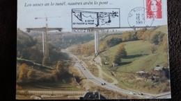 CPM Rodez Viaduc De Bourran En Construction Decembre 1990 FLAMME 1991 OCCITAN - Puentes