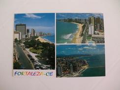 Postcard Postal Brasil Fortaleza Praia Do Nautico Praia Do Meireles Praia De Iracema - Fortaleza