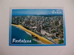 Postcard Postal Brasil Fortaleza Ceara Vista Parcial De Fortaleza Av. Beira Mar Praia Do Meireles - Fortaleza
