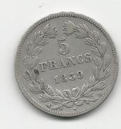 LOUIS-PHILIPPE - 5 FRANCS 1839 BB  - ARGENT - France