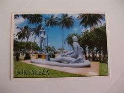 Postcard Postal Brasil Fortaleza Estatua De Iracema Praia Do Mucuripe - Fortaleza