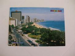 Postcard Postal Brasil Fortaleza Avenida Beira Mar Praia Do Nautico - Fortaleza