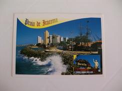 Postcard Postal Brasil Fortaleza Praia De Iracema Pirata Bar - Fortaleza