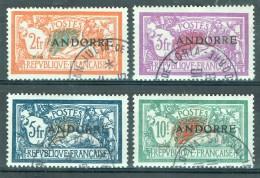 Andorra (franz.) 1931 Freimarken 19 - 22 Gestempelt - Andorre Français