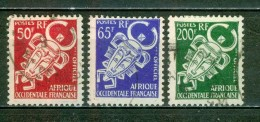 Timbres De Service - Masques Traditiionnels - A.O.F. - AFRIQUE OCCIDENTALE - Art Africain - 1958 - A.O.F. (1934-1959)