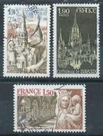 France - 1977  - Série Touristique  - N° 1937 à 1939  - Oblitérés - Used - Oblitérés