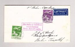 """Dänemark KÖBENHAVN 15.5.1930 Brief Nach Berlin """"Mit Luftpost Befördert Zweigluftpostamt Berlin"""" Im Kasten Rot - Poste Aérienne"""