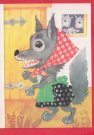 217919 /  Illustrator E. HAVLICKOVA - 3D STEREO Lenticular EYES , GOAT , DREES FOX ,   Czechoslovakia - Altre Illustrazioni
