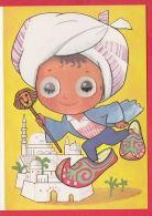 217922 /  Illustrator E. HAVLICKOVA - 3D STEREO Lenticular EYES , BOY Minaret Mosque Mosquee Moschee  Czechoslovakia - Altre Illustrazioni