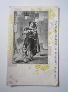 Carte Postale Publicitaire NOUVELLES GALERIES A. GUILLEMOT BOURG (Ain) Emma BERNARD Aux OLLIERES - Bourg-en-Bresse