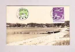 Dänemark NAKSKOV 10.12.1926 Anischtskarte Per Luftpost Nach Weltevreden Java - Poste Aérienne