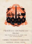 """10734-DITTA """"FRATELLI DONISELLI""""-MILANO-FABBRICA VELOCIPEDI E FURGONCINI-FG - Pubblicitari"""