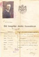 Dänemark 1922 Pass Légation Royale Du Danemark Mit Stempel Des Dän., Deutsch, Franz. Und Britische Konsulat In Brüssel - Poststempel - Freistempel