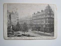 LYON Oblitération LA MUTUELLE DE FRANCE & DES COLONIES 29 OCTOBRE 1913 Narcisse BIESSE à CROSSES Par Savigny En Septaine - Autres