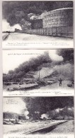Belgien - Lot 3 AK HOBOKEN-ANVERS Incendie Des Tanks à Pétrole Photo Bastyns & Co Anvers - Antwerpen