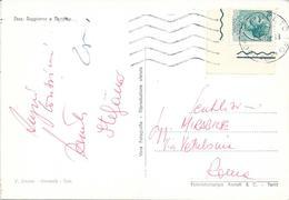 1975 L.70 SIRACUSANA ANGOLO DI FOGLIO SU CARTOLINA DI CAMERINO - 6. 1946-.. Repubblica