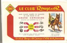 Buvard Club Rouge Et Or Groupe L´élite De La Jeunesse Promotion Du Livre De J. E. CHIPPERFIELD Capi, Fis De Loup - Stationeries (flat Articles)