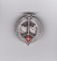 Medaglia - Spilla - HUGUENIN  - SCHWEIZERISCHER - FRAUEN - ALPEN - CLUB - ARGENTO 925 (svizzera) - Tokens & Medals