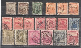 EGYPTE / EGYPT, 1914, Sultanat, Série Courante, Yvert 44 / 53 Avec Nuances, Obl, 19 Timbres ,B/TB, Cote 18 Euros - Ägypten