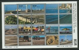 Israel // 1983 // Bloc Feullet  Oblitéré Tel Aviv  Exposition Nationale - Israel
