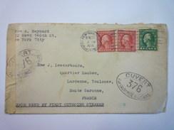 ENVELOPPE Au Départ De  NEW-YORK  à Destination De  TOULOUSE  1917  (avec Cachets De  CENSURE)   XXX - Lettres & Documents