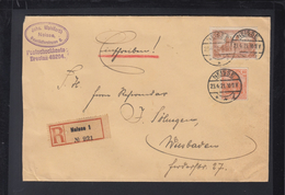 Dt. Reich R-Brief 1921 Neisse Nach Wiesbaden - Deutschland