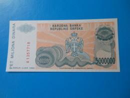 Bosnie Herzegovine Bosnia Herzegovina 5000000 Dinara 1993 P153a UNC - Bosnia Erzegovina
