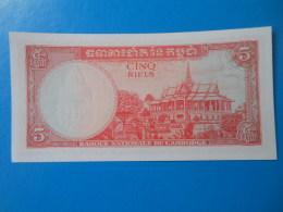 Cambodge Cambodia 5 Riels 1972 P10c UNC - Cambodia