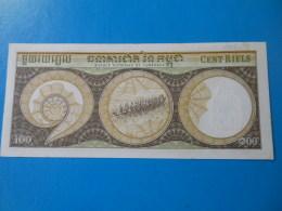Cambodge Cambodia 100 Riels 1972 P8c UNC - Cambodia