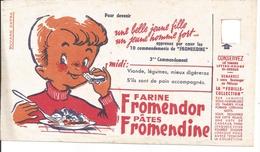 Buvard Farine Fromendor. Pâtes Fromendine. Une Belle Jeune Fille. Un Jeune Homme Fort. - Alimentaire
