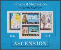 Ascension 1972 Sir Ernest Shackleton Antarctic Explorer M/s ** Mnh (33430) - Ascension