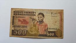 MADAGASCAR 500 ARIARY 1983-1987 - Madagascar
