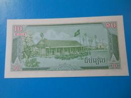 Cambodge Cambodia 10 Riels 1987 P34 UNC - Cambodia