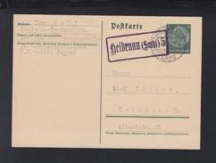 Dt. Reich GSK 1937 Landstempel Heidenau 5 - Briefe U. Dokumente