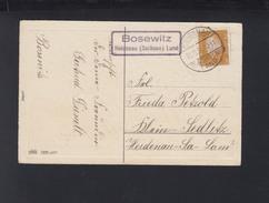 Dt. Reich PK 1931 Landstempel Bosewitz Heidenau - Briefe U. Dokumente