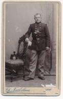 Photo Ancienne CDV Circa 1880 Portrait D'un Militaire Régiment à Identifier Photographe Nauwelaers Lierre Belgique - War, Military