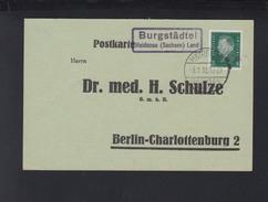 Dt. Reich PK 1932 Landstempel Burgstädtel Heidenau - Briefe U. Dokumente