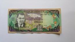 GIAMAICA 100 DOLLARI 1992 - Giamaica