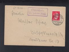 Dt. Reich Brief 1943 Landstempel Löwenhain Heidenau - Briefe U. Dokumente