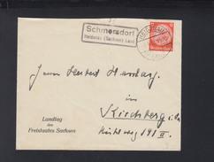 Dt. Reich Brief 1933 Landstempel Schmorsdorf Heidenau - Briefe U. Dokumente