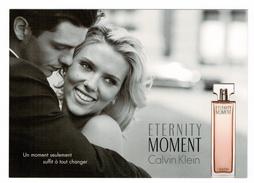 Cartes Parfumées Carte  ETERNITY MOMENT De CALVIN KLEIN  RECTO VERSO - Modern (vanaf 1961)