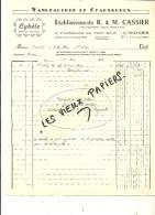 87 - Haute-vienne - LIMOGES - Facture CASSIER - Manufacture De Chaussures CYBELE – 1946 - REF 50E - 1900 – 1949