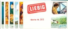 FIGURINE LIEBIG- SERIE N. 1843-IL PERICOLO E´ IL MIO MESTIERE - CON FASCETTA ORIGINALE - Liebig