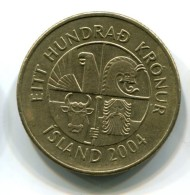 2004 Iceland 100 Kronur Coin - Islande
