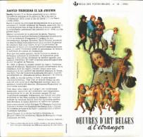 FOLDER  POSTE BELGE TP N° 2393/95 OEUVRES D'ART BELGE A L'ETRANGER AVEC CACHETS POSTAUX FDC GOSSELIES (2 SCANS) - Documents De La Poste
