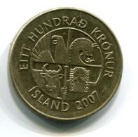 2007 Iceland 100 Kronur Coin - Islande