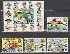 TUVALU 1987 World Scout Jamboree, Australia, And The 200th Anniversary Of The Australian Settlement. NUEVO - MNH ** - Movimiento Scout