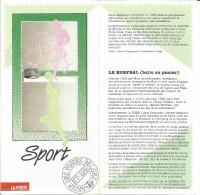 FOLDER  POSTE BELGE TP N° 2402/03 SPORT AVEC CACHETS POSTAUX FDC FARCIENNES (3 SCANS) - Documents De La Poste